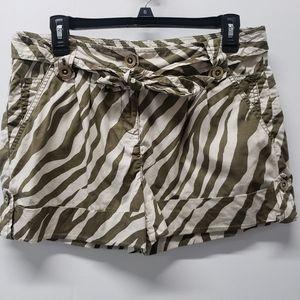Michael Kors Animal Print Shorts Cotton Size8P